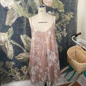 NEW Mango MNG Suit sparkly slip floral dress